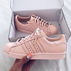 Limited Edition Pale Pink Adidas Superstars